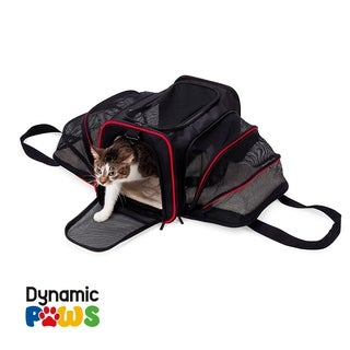 Pet Expandable Airplane Carrier with Faux Fur Insider