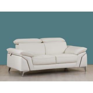 Modern Leather Upholstered Living Room Loveseat