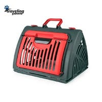 Pet Airline-Approved Red Foldable Aircraft Box Carrier