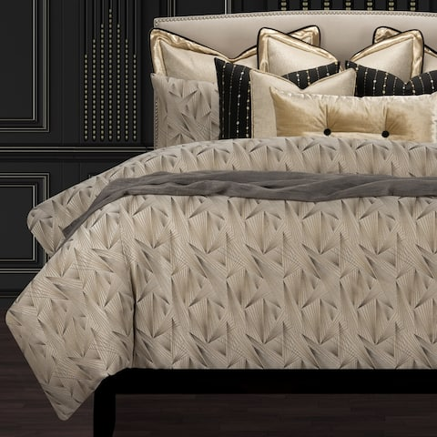 F. Scott Fitzgerald Fine Point Sable Luxury Duvet Cover and Insert Set