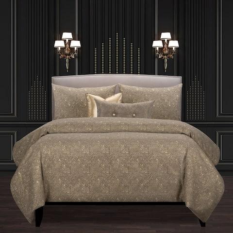 F Scott Fitzgerald Garden Party Bronze Luxury Duvet Cover and Insert Set