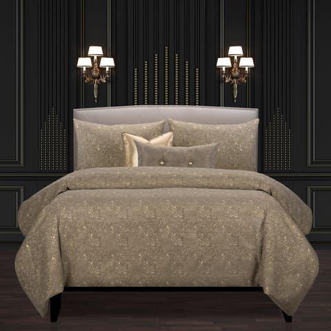 F Scott Fitzgerald Garden Party Bronze Luxury Bedding Set