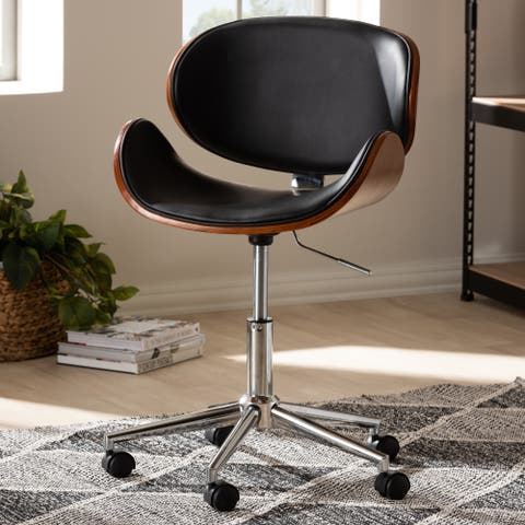 Contemporary Black Adjustable Office Chair by Baxton Studio