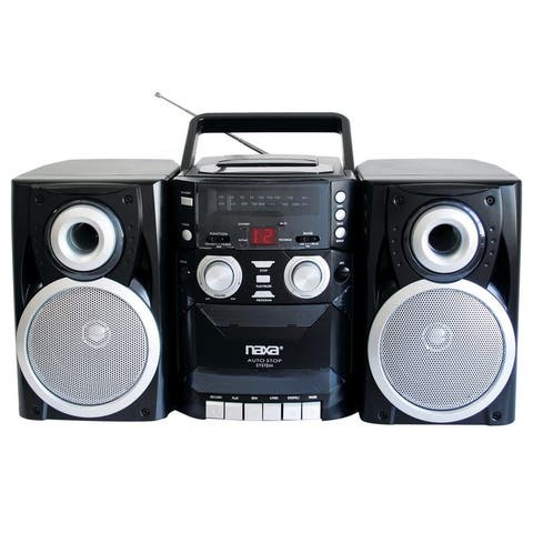 Portable CD Player with AM/FM Stereo Radio Cassette Player/Recorder