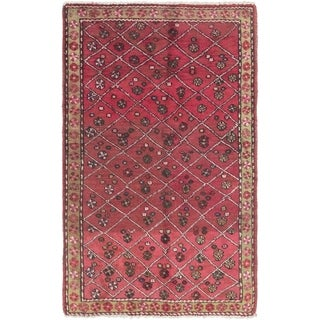Hand Knotted Tabriz Semi Antique Wool Area Rug - 3' 2 x 5'
