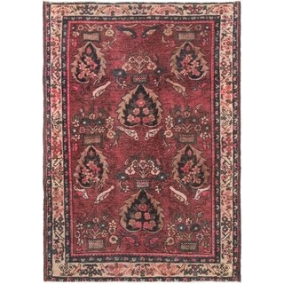 Hand Knotted Tabriz Antique Wool Area Rug - 4' 7 x 6' 6