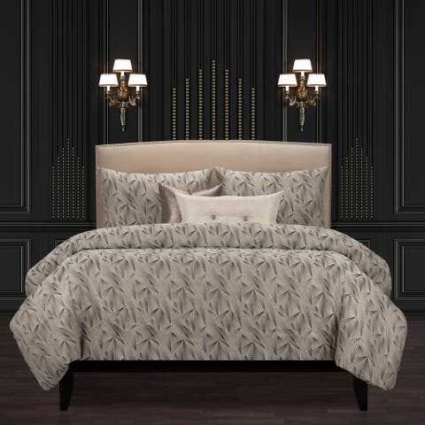 F Scott Fitzgerald Fine Point Graphite Luxury Duvet Cover and Insert Set