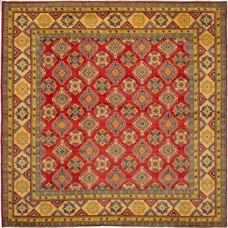 ECARPETGALLERY Hand-knotted Finest Gazni Red Wool Rug - 10'2 x 9'10