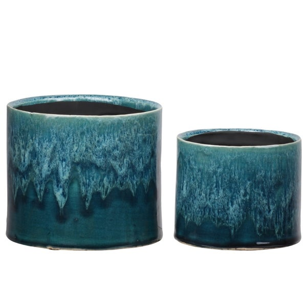 """Urban Trends Collection: Ceramic Pot Gloss Finish Green 5"""""""