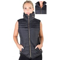 Women's Plus Size High Collar Quilted Vest