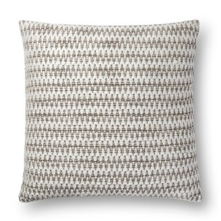 Woven Ivory/ Natural Black Contemporary 22-inch Cotton Pillow Cover