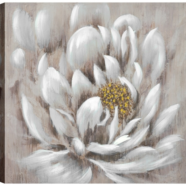 Shop ArtMaison Canada \'Grey Flower I\' Floral Canvas Print Wall Art ...