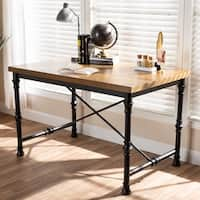 Industrial Wood and Metal Desk by Baxton Studio