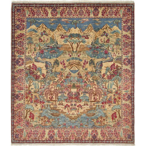 Hand Knotted Tabriz Antique Wool Area Rug - 11' x 12' 7