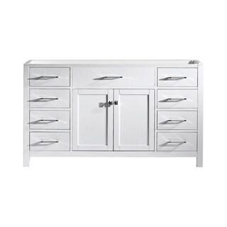 """Caroline 60"""" Single Bathroom Vanity Cabinet in White"""