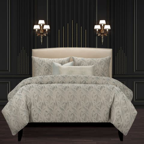F Scott Fitzgerald Fine Point Mineral Duvet Cover and Insert Set
