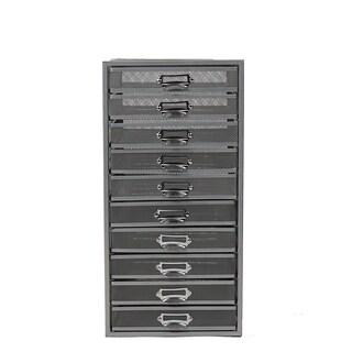 Mind Reader Mesh 10 Drawer Storage Organizer, Heavy Duty, Silver