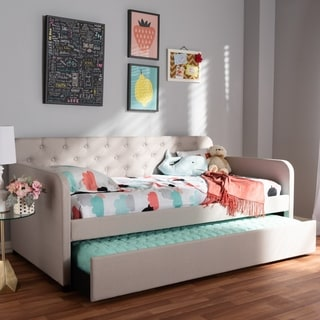 Link to Taylor & Olive Damodar Contemporary Fabric Daybed Similar Items in Kids' & Toddler Furniture