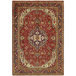 Hand Knotted Tabriz Wool Area Rug - 6' 7 x 9' 6