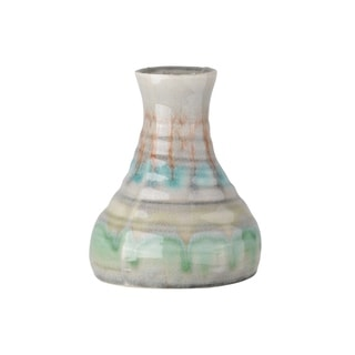 "Urban Trends Collection: Ceramic Vase Gloss Finish Multi-Colored 7.75"""