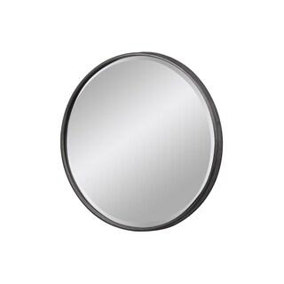 UTC37518 Metal Round Wall Mirror With Keyhole Hanger LG Tarnished Fin