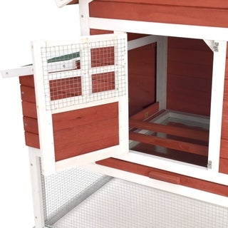 72.5 inch Modular Chicken Coop - The Chick-Inn with wire yard