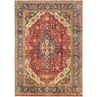 Hand Knotted Tabriz Semi Antique Wool Area Rug - 7' 10 x 11' 2