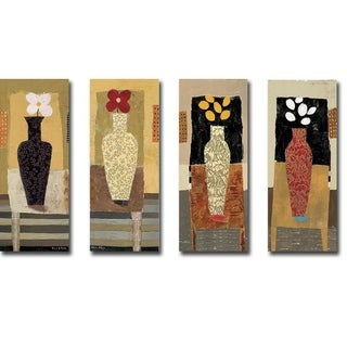 Imaginary Lines, I, II, III, & IV by Nathaniel Mather 4-piece Gallery Wrapped Canvas Giclee Art Set (Ready to Hang)