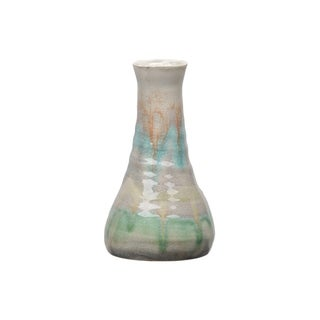 Urban Trends Collection: Ceramic Vase Gloss Finish Multi-Colored 9""