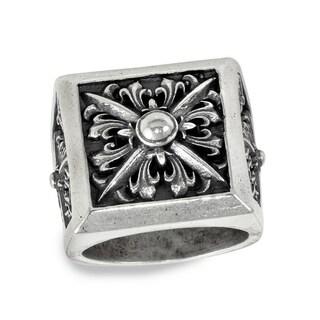 Sterling Silver Archangel Boss Ring