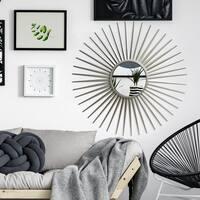 Patton Silver Sunray Wall Accent Mirror