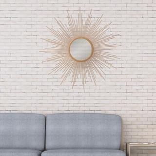 Patton Wall Decor Gold Spoked Sunburst Wall Accent Mirror