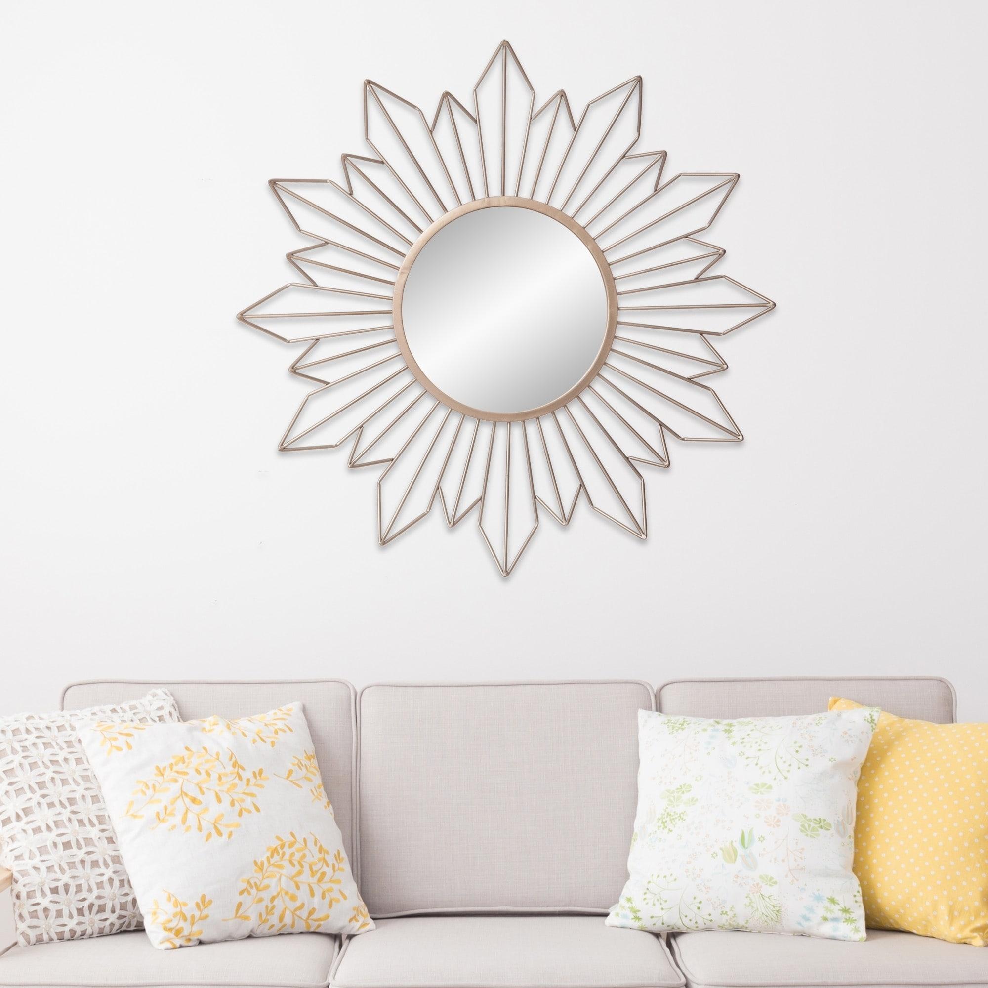 Mirrors Gold Sunburst Wall Accent Mirror Hallway Furniture ...