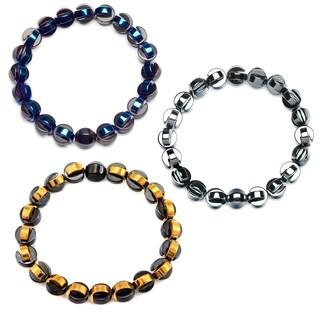 Half Loop Hematite Beaded Bracelet (10mm)