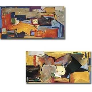 Animated Launch and Longline One by Daniel Phill 2-piece Gallery Wrapped Canvas Giclee Art Set (Ready to Hang)