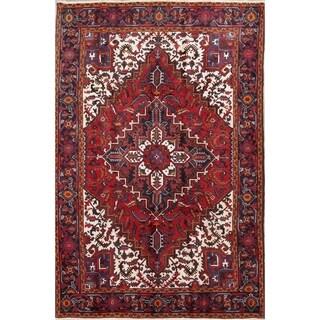 "Handmade Wool Oriental Heriz Persian Carpet Area Rug - 10'0"" x 6'9"""