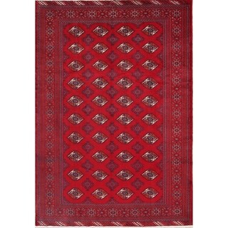 """Hand Knotted Wool Oriental Turkoman Persian Vintage Carpet Area Rug - 9'5"""" x 6'7"""""""