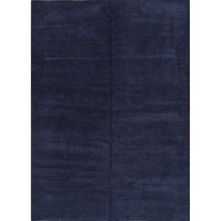 Hand Knotted Wool Contemporary Gabbeh Indian Oriental Carpet Area Rug - 11' 7'' x 8' 2''