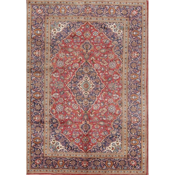 Vintage Handmade Wool Traditional Floral Persian Area Rug Dining Room