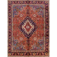 Geometric Tribal Tabriz Hand Knotted Persian Area Rug Wool - 12' 11'' x 9' 4''