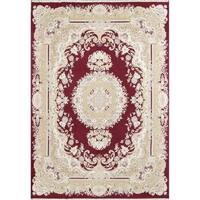 "Copper Grove Kalavasos Acrylic and Wool Floral Tabriz Persian Carpet Area Rug - 13'0"" x 9'7"""