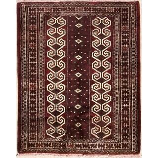 "Handmade Oriental Balouch Bokhara Persian Wool Area Rug - 3'6"" x 2'10"""