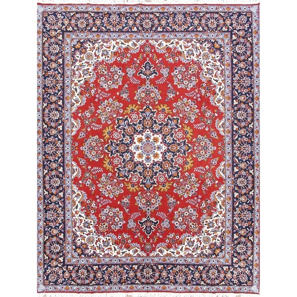 "Soft Plush Floral Acrylic Hamedan Persian Living Room Carpet Area Rug - 12'4"" x 9'7"""