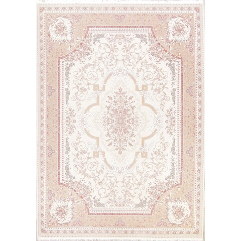 Copper Grove Narva Soft Plush Floral Tabriz Acrylic/ Wool Persian Area Rug - 12'11 x 9'8
