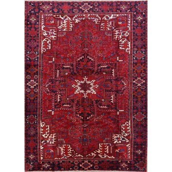Shop Hand Knotted Wool Oriental Heriz Persian Livingroom ...