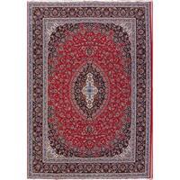 Gracewood Hollow Alishan Wool Blend Floral Mashad Mashad Rug - 12'10 x 9'5