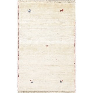 "Handmade Gabbeh (Zolanvari) Shiraz Persian Tribal Area Rug Oriental - 3'9"" x 2'5"""