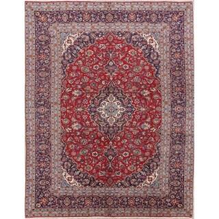 "Handmade Wool Floral Red Persian Vintage Carpet Area Rug - 11'8"" x 8'0"""
