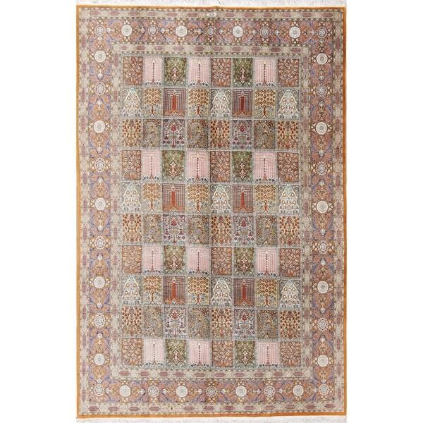 "Copper Grove Zlin Hand-knotted Wool Floral Qum Qom Ghom Persian Area Rug - 9'7"" x 6'4"""