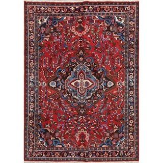 "Hand Made Floral Lilian Persian Wool Carpet Area Rug - 9'9"" x 7'0"""